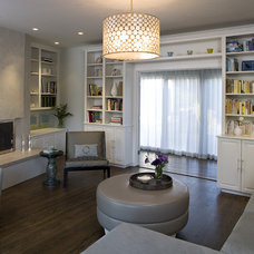 Transitional Living Room by Shirley Parks Design