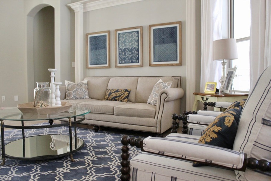 Transitional Living Room - St Johns County Top Interior Designers in Mobile