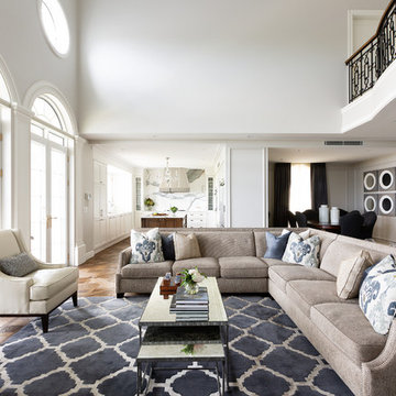 Transitional Living Room
