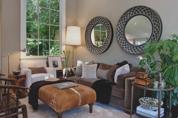 Transitional Living Room by Urrutia Design
