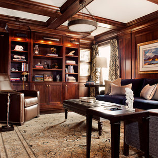 Incroyable Example Of A Transitional Formal And Enclosed Living Room Design In Toronto  With A Standard Fireplace