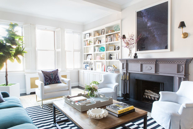 Transitional Living Room by Nina Carbone Inc