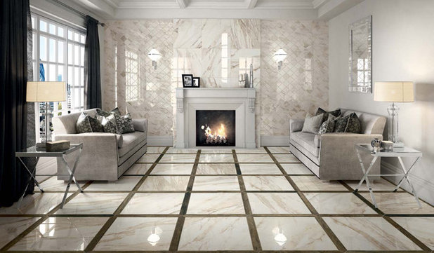 Transitional Living Room by Simple Steps