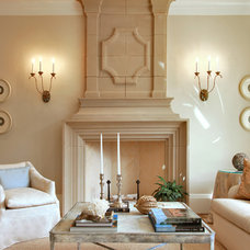 Transitional Living Room by Edgemoor Custom Builders