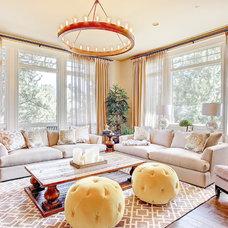Traditional Living Room by Studio 10 Interior Design