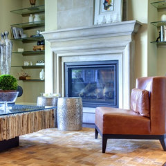 mediterranean living room by Sunscape Homes, Inc