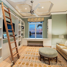 Transitional Home Office by Interiors By Agostino's