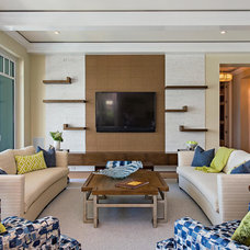 Transitional Living Room by Interiors By Agostino's