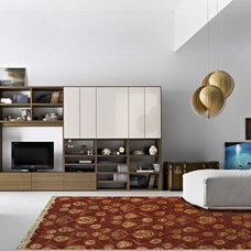 Transitional Living Room by Rugsville
