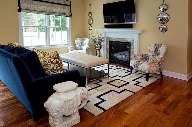 Transitional Living Room by CANDICE ADLER DESIGN LLC
