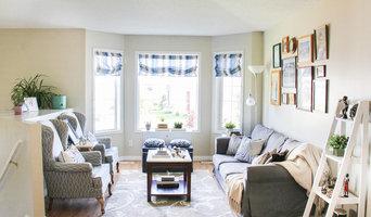 Transitional Stony Plain Living Room