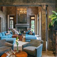 Transitional Living Room by Douglas Design Studio