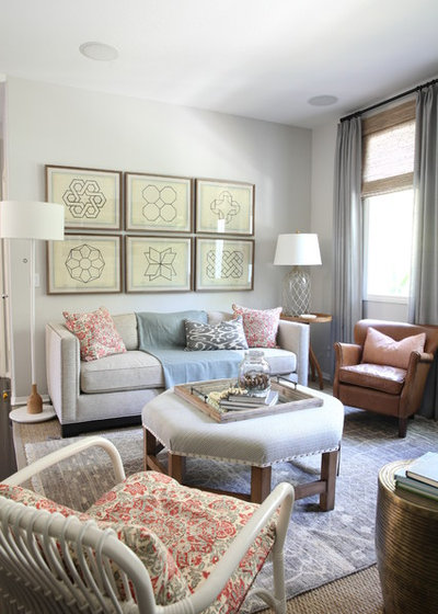 Room of the day right scaled furniture opens up a tight for Tight living room designs