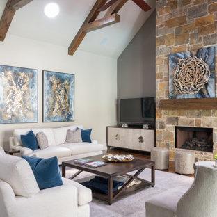 Living room - transitional living room idea in Dallas