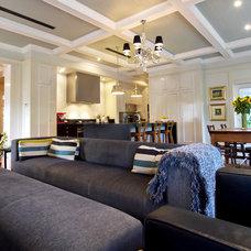Traditional Living Room by Trebilcock & Associates Architects