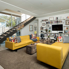 Midcentury Living Room by Foursquare Builders