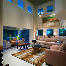 Contemporary Living Room by suzanne lawson design - interior design