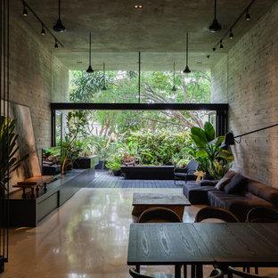 Modernes Wohnzimmer in Singapur