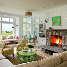 Eclectic Living Room by Treehouse Design, Inc.