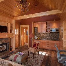 Rustic Living Room by BRAD RABINOWITZ ARCHITECT