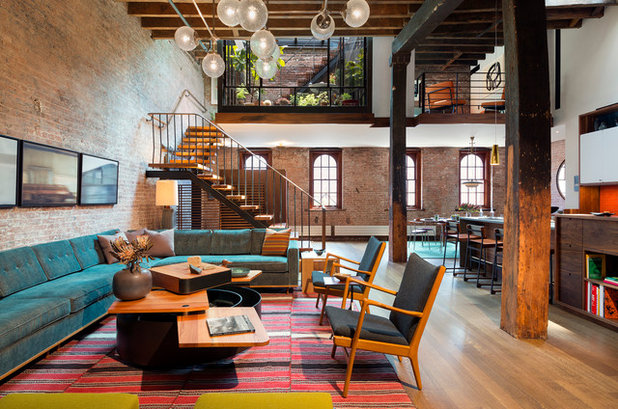 Industriale Soggiorno by Andrew Franz Architect PLLC