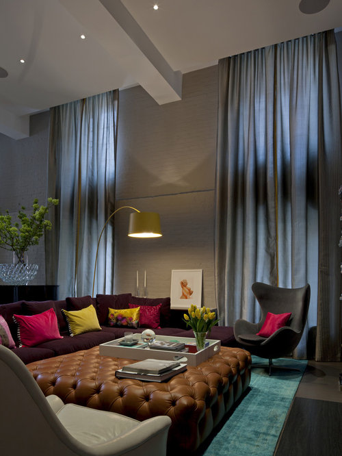 High Ceiling Curtain Houzz