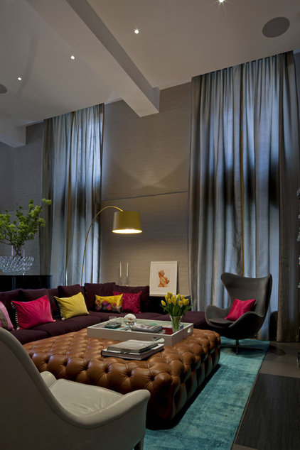 Contemporary Living Room by Steffani Aarons