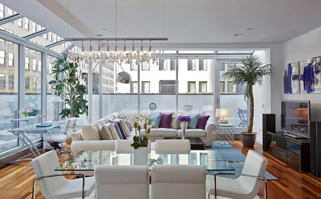 Contemporary Living Room by Marie Burgos Design