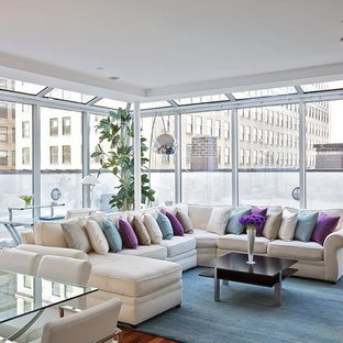 Sectional Sofa With Side Tables Houzz