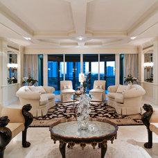 Traditional Living Room by Barbara Rooch Interior Environments, Inc.