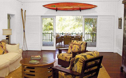 Tropical Living Room Trigg-Smith Architects - Project - Island Estate Guesthouses