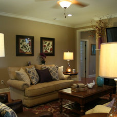 Transitional Living Room by G&G Interior Design