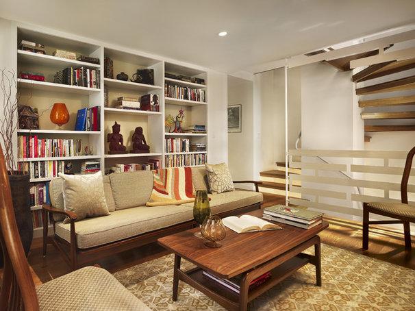 Midcentury Living Room by Rasmussen / Su Architects
