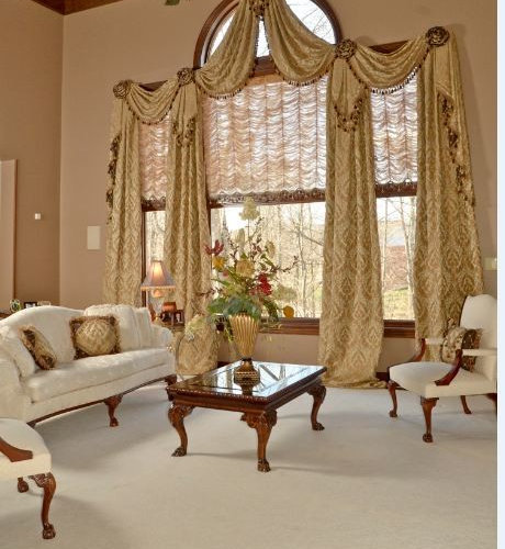 Austrian shades houzz for Window treatment manufacturers