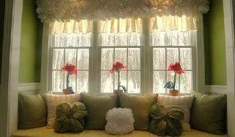 Triple double-hung windows creating a beautiful window seat space