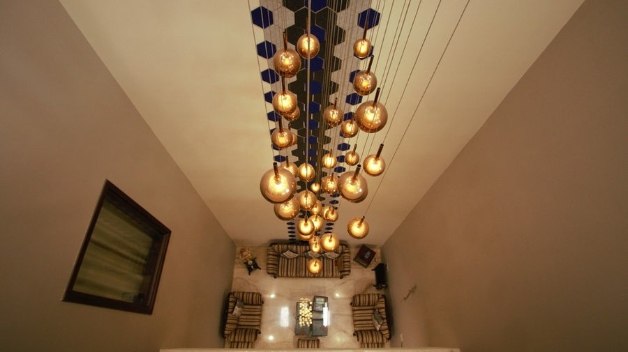 Triple Height Ceiling Light Fixture