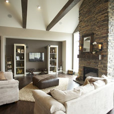 Contemporary Living Room by Designer for Triton Homes, Owner Triton Interiors