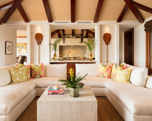 Top 100 Tropical Living Room Ideas & Decoration Pictures | Houzz