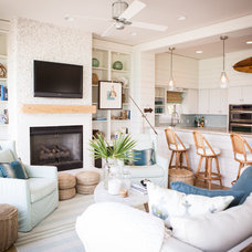 Tropical Living Room by Ashley Gilbreath Interior Design