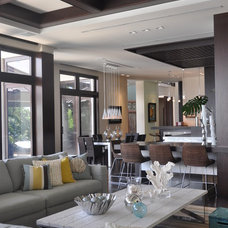 Tropical Living Room by B Pila Design Studio
