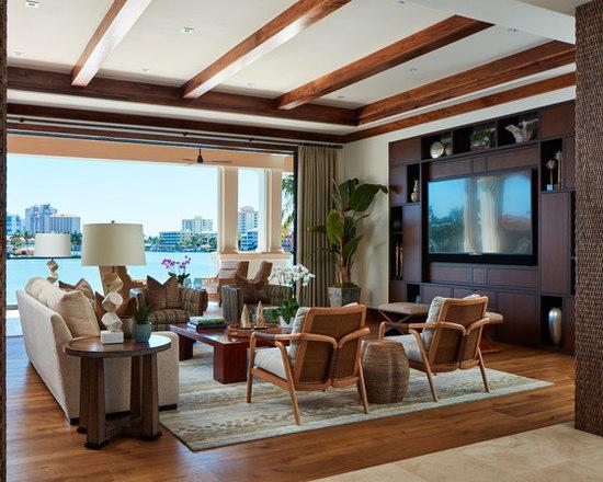 Tropical Living Room Design Ideas, Remodels U0026 Photos | Houzz