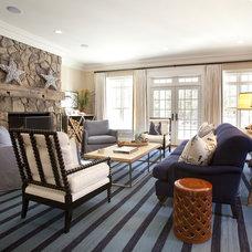 Tropical Living Room by Chandos Interiors