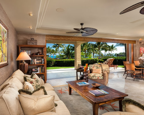 Tropical Themed Living Room Design Ideas Remodels Amp Photos Houzz