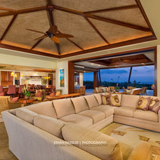 Tropical Living Room by Ethan Tweedie Photography