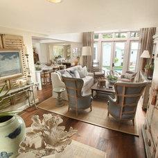 Tropical Living Room by Renée Gaddis Interiors