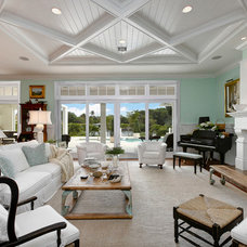 Tropical Living Room by Weber Design Group, Inc.
