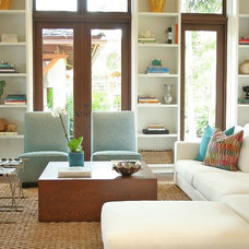 Contemporary Living Room by Maggie Cruz Interior Design