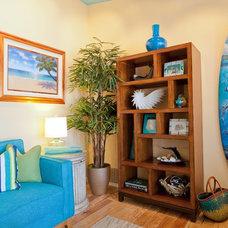 Tropical Living Room by Karen Grace Interiors