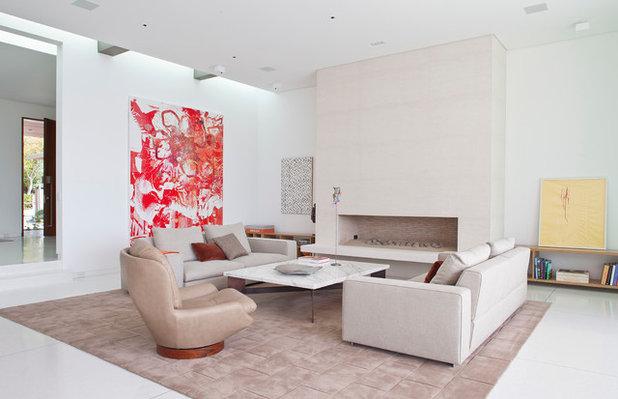 Contemporary Living Room by Studio William Hefner