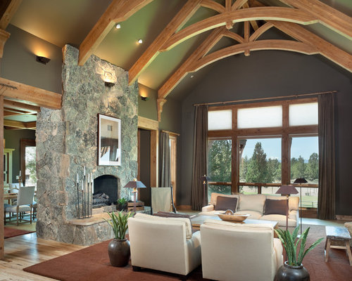 rustic green living rooms decorating | Rustic Living Room Design Ideas, Renovations & Photos with ...